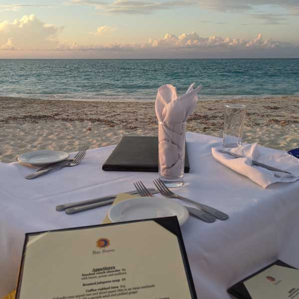 bay bistro where to eat in turks and caicos